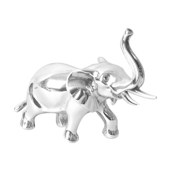 Sterling Silver Simple Elephant Sculpture