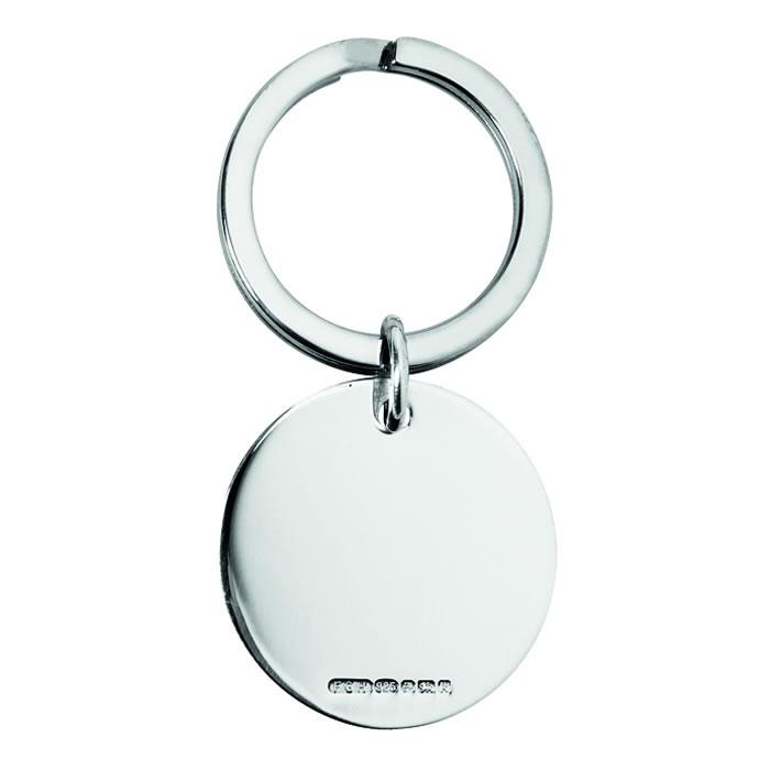 Sterling Silver Circle Keyring