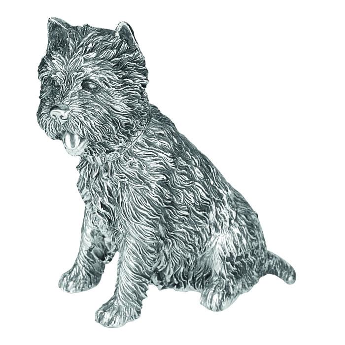 Sterling Silver West Highland Terrier Dog Sculpture