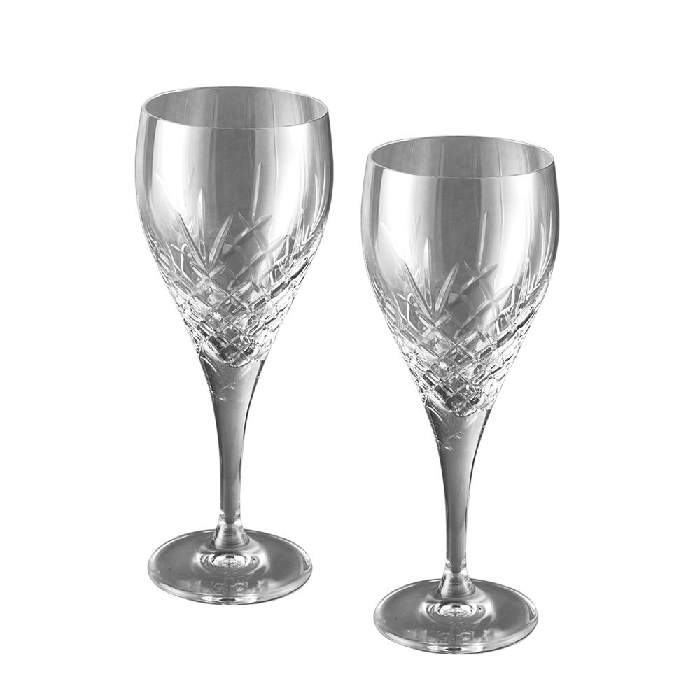 Crystal Wine Glasses Pair