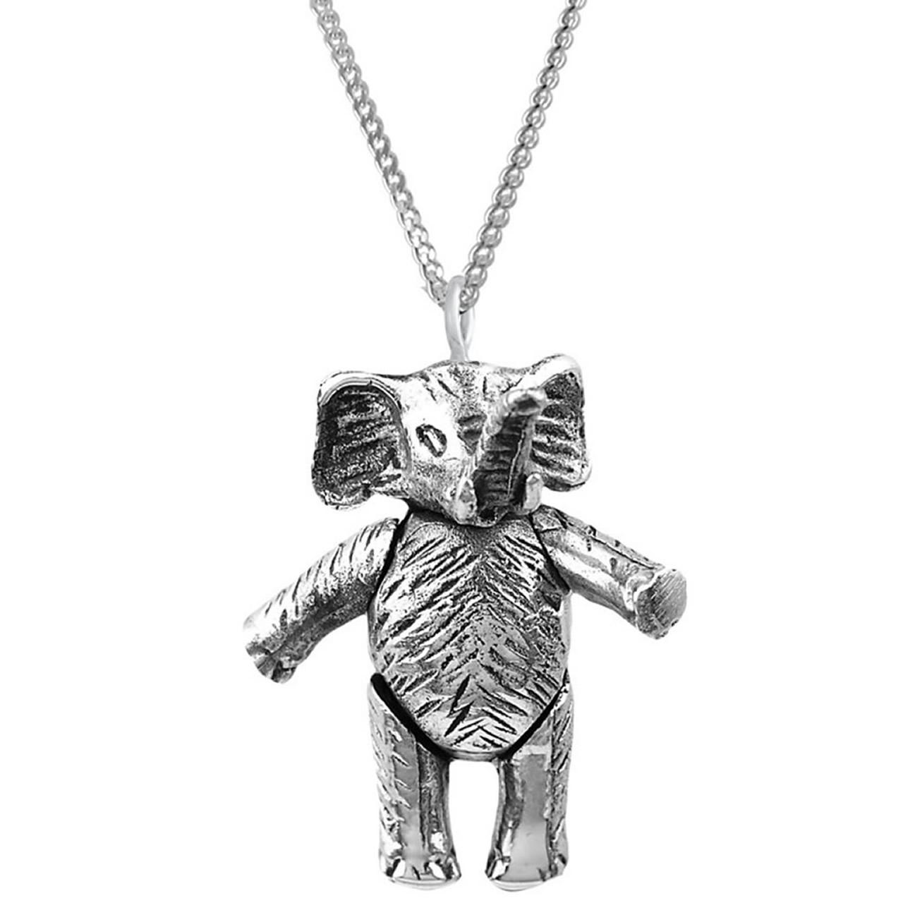 Sterling Silver Moving Elephant Pendant