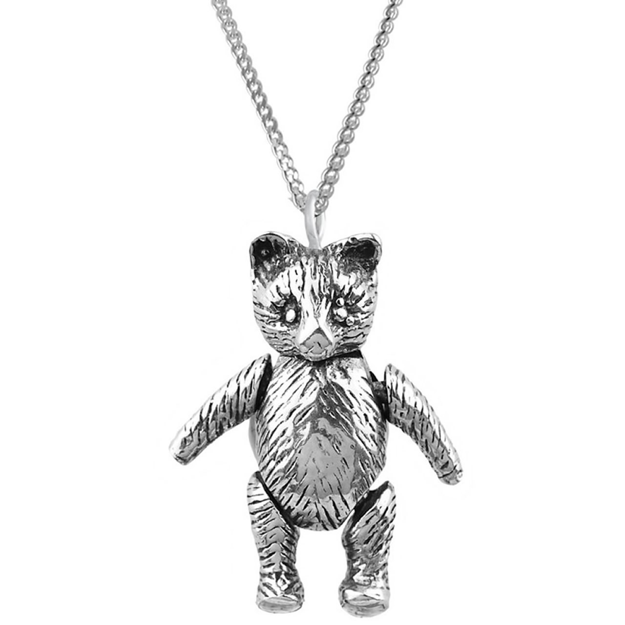 Silver moving teddy bear pendant sterling silver moving teddy bear pendant aloadofball Images