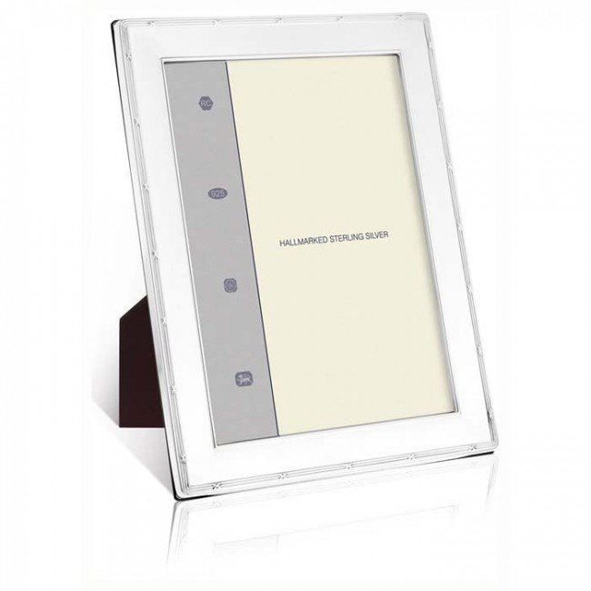 Reed And Ribbon Smooth 9x6 Cm Classic Photo Frame