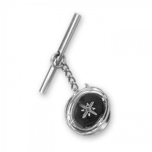Sterling Silver And Diamond Tie Pin