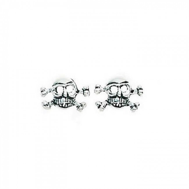 311faa1fc Sterling Silver Skull And Cross Bones Stud Earrings. SKU: GEK_A148. £11.99