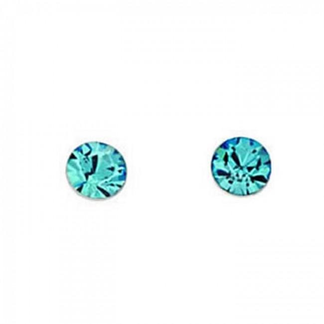 7f950cda1 Sterling Silver Aquamarine Swarovski Crystal Style Stud Earrings