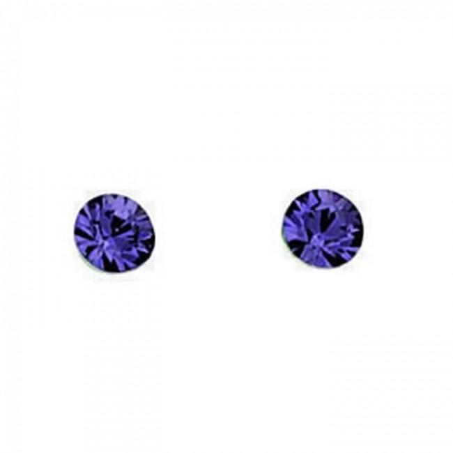 5238ed180 Sterling Silver Tanzanite Purple Swarovski Crystal Plain Stud Earrings. SKU:  GEK_A824T. £6.99