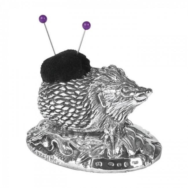 Sterling Silver Hedgehog Pin Cushion
