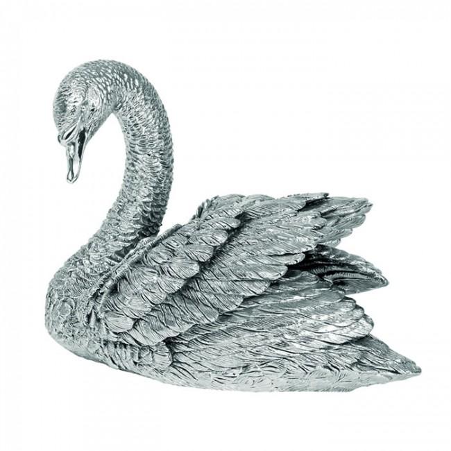 Sterling Silver Large Swan Sculpture