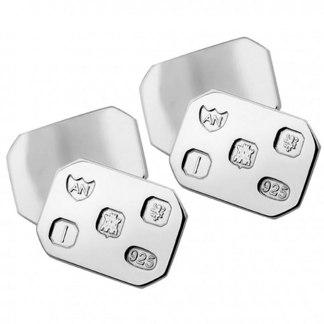 Sterling Silver Heavy Gauge Feature Hallmark Rectangular ...