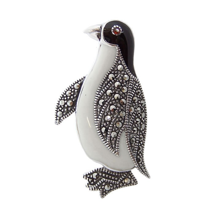 gemstone products l highkarat jean penguin vitau brooch gold