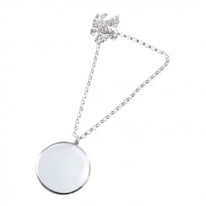 Silver magnifying glasses silvergroves sterling silver chain magnifying glass aloadofball Image collections
