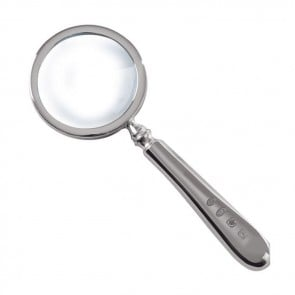 Silver magnifying glasses silvergroves sterling silver simple magnifying glass aloadofball Gallery