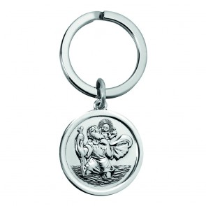 Sterling Silver St Christopher Styled Key Ring 2c78b05236